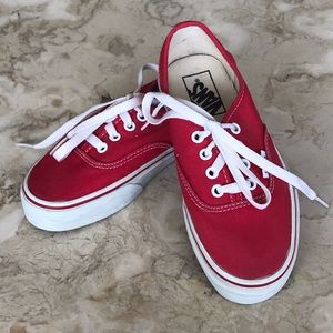 Vans Classic Red Canvas Lace Up
